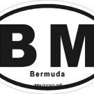 Bermuda Oval Car Sticker