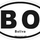 Bolivia Oval Car Sticker