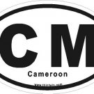 Cameroon Oval Car Sticker
