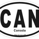 Canada Oval Car Sticker