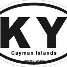 Cayman Islands Oval Car Sticker