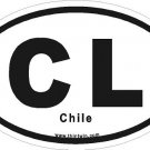 Chile Oval Car Sticker