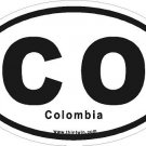 Colombia Oval Car Sticker