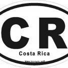 Costa Rica Oval Car Sticker