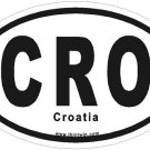 Croatia Oval Car Sticker