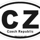 Czech Republic Oval Car Sticker
