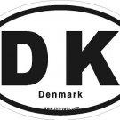 Denmark Oval Car Sticker