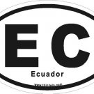 Ecuador Oval Car Sticker