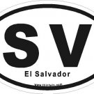 El Salvador Oval Car Sticker
