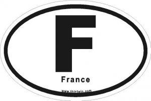 France Oval Car Sticker