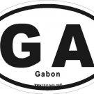 Gabon Oval Car Sticker