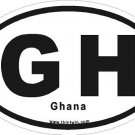 Ghana Oval Car Sticker