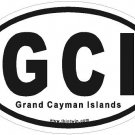 Grand Cayman Islands Oval Car Sticker