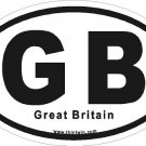 Great Britain Oval Car Sticker