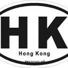 Hong Kong Oval Car Sticker