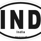 India Oval Car Sticker