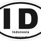Indonesia Oval Car Sticker