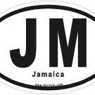 Jamaica Oval Car Sticker