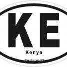 Kenya Oval Car Sticker
