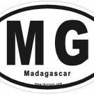 Madagascar Oval Car Sticker