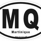 Martinique Oval Car Sticker