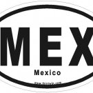 Mexico Oval Car Sticker