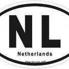 Netherlands Oval Car Sticker