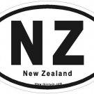 New Zealand Oval Car Sticker