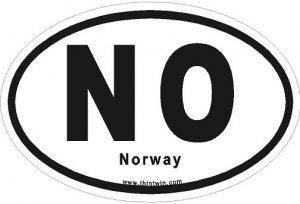 Norway Oval Car Sticker