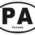 Panama Oval Car Sticker