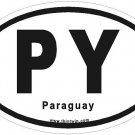 Paraguay Oval Car Sticker