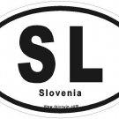 Slovenia Oval Car Sticker