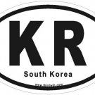South Korea Oval Car Sticker