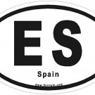 Spain Oval Car Sticker