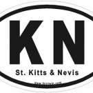 St. Kitts Oval Car Sticker