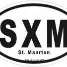 St. Maarten Oval Car Sticker