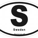 Sweden Oval Car Sticker