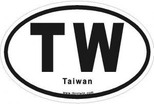 Taiwan Oval Car Sticker