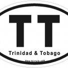 Trinidad & Tobago Oval Car Sticker