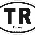 Turkey Oval Car Sticker