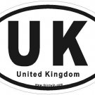 United Kingdom Oval Car Sticker