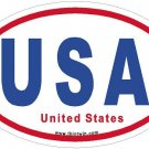 United States RWB Oval Car Sticker