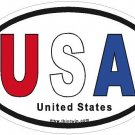 United States RWB#2 Oval Car Sticker