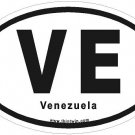Venezuela Oval Car Sticker