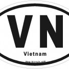 Vietnam Oval Car Sticker
