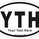 Customized Oval Car Sticker