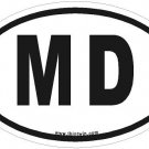 MD Oval Car Sticker