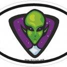 Alien Oval Car Sticker