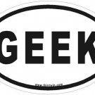 Geek Oval Car Sticker