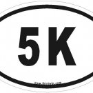 5K Oval Car Sticker